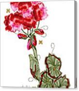 Geranium Sans Pot Canvas Print