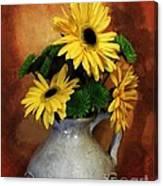 Gerber Yellow Daisies Canvas Print