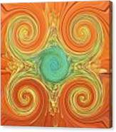 Gerbera Abstract Canvas Print