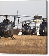 German Army Bo-105 Helicopters, Stendal Canvas Print