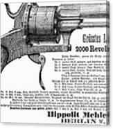 German Revolver, 1880 Canvas Print