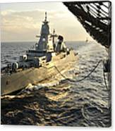 German Sachsen-class Frigate Hessen Canvas Print