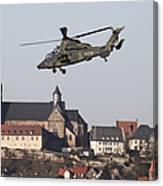 German Tiger Eurocopter Flying Canvas Print