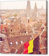 Ghent From Above Canvas Print