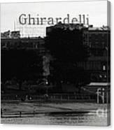Ghirardelli Square In Black And White Canvas Print