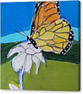 Ghost Flower And Butterfly Canvas Print