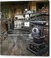 Ghost Town Stove Storage - Montana State Canvas Print