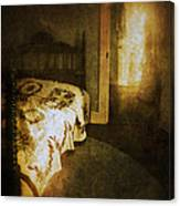 Ghostly Figure In Hallway Canvas Print
