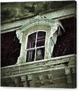 Ghostly Girl In Upstairs Window Canvas Print