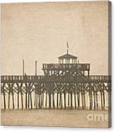 Ghostly Pier Canvas Print