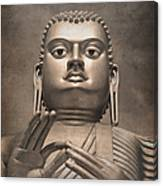 Giant Gold Buddha Vintage Canvas Print
