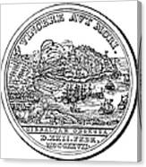 Gibraltar: Medal, 1727 Canvas Print