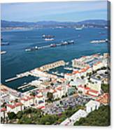 Gibraltar Town And Bay Canvas Print
