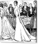 Gibson: After-dinner, 1899 Canvas Print