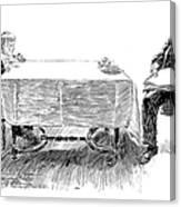 Gibson: Breakfast, 1898 Canvas Print