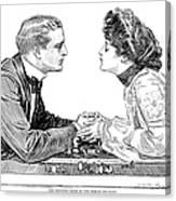 Chess Game, 1903 Canvas Print