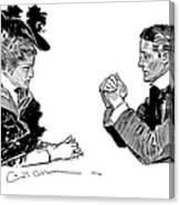 Gibson: Couple, 1896 Canvas Print