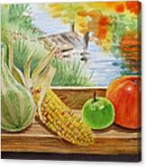 Gifts From Fall Canvas Print