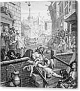 Gin Lane, William Hogarth Canvas Print