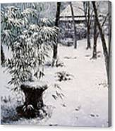 Gioji Temple In Snowing Canvas Print