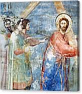 Giotto: Road To Calvary Canvas Print