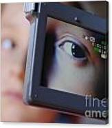 Girl Being Videotaped Canvas Print
