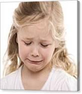 Girl Crying Canvas Print