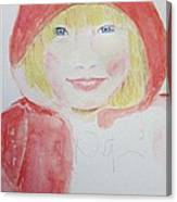 Girl In A Red Hood Canvas Print