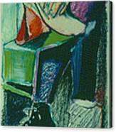 Girl In A Restaurant Canvas Print