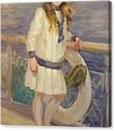 Girl In A Sailor Suit Canvas Print