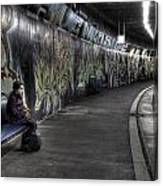 Girl In Station Canvas Print