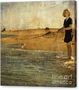 Girl On A Shore Canvas Print
