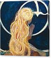Girl Praying Canvas Print