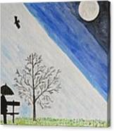 Girl With A Umbrella Canvas Print