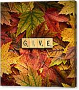 Give-autumn Canvas Print