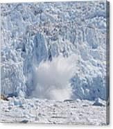 Glacial Ice Calving Into The Water Canvas Print