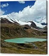 Glacial Lake In Kyrgyz Tien-shan Canvas Print