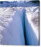 Glacier Crevasse, Canada Canvas Print