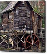 Glade Creek Grist Mill Series II Canvas Print