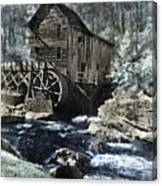 Glade Creek Mill In Infrared. Canvas Print