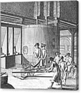Glass Manufacture, 1751 Canvas Print