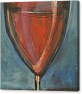 Glass Of Red Canvas Print