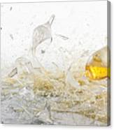 Glasses Of Beer Shattering Canvas Print