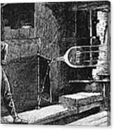 Glassworker, 19th Century Canvas Print