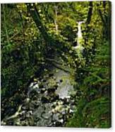Glenariff, Co Antrim, Ireland Waterfall Canvas Print
