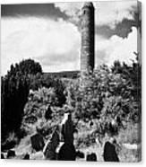 Glendalough Round Tower Ireland Canvas Print