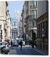 Glimpse Of Montmartre Canvas Print