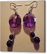 Glitter Me Purple Earrings Canvas Print