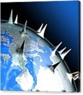 Global Pandemic, Conceptual Artwork Canvas Print