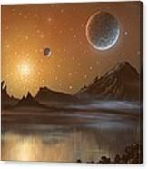 Globular Cluster, Artwork Canvas Print